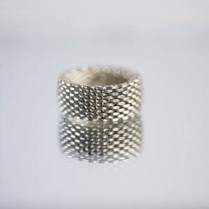 Tiffany & Co Somerset Mesh Ring Size 7